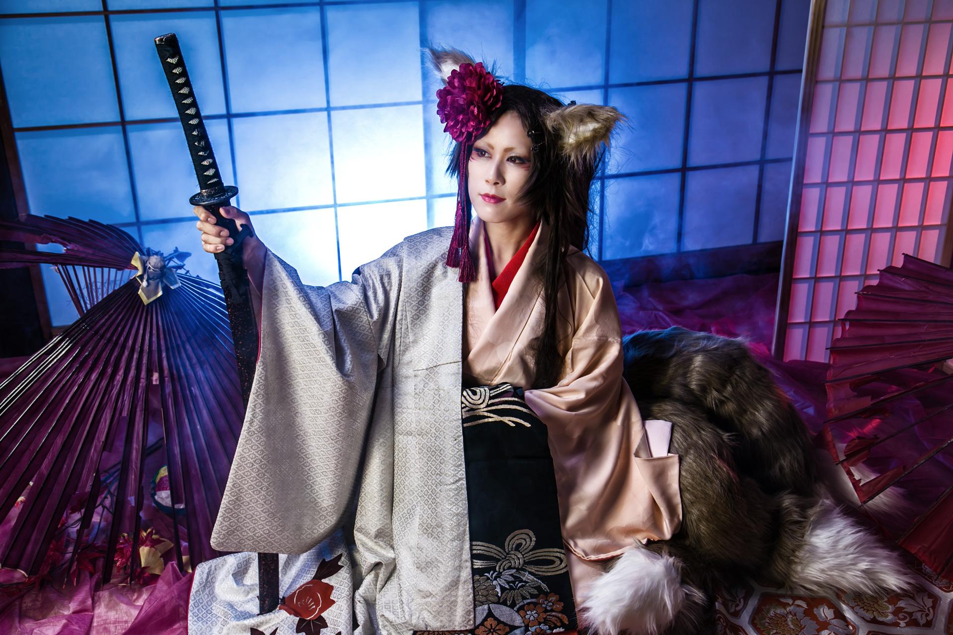妖狐@オリジナル衣装 モデル:総咲コータさん
