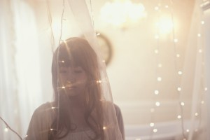 電飾と自然光のポートレート model:さゆさん